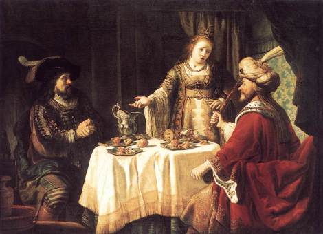 Banquet of Esther and Achashverosh by Jan Victors (c 1645)