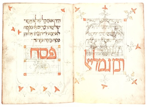 Prato Haggadah Spain, ca. 1300. The Library of The Jewish Theological Seminary, New York, MS 9478