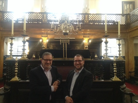 Me and Maurice Bitton, Synagogue Manager