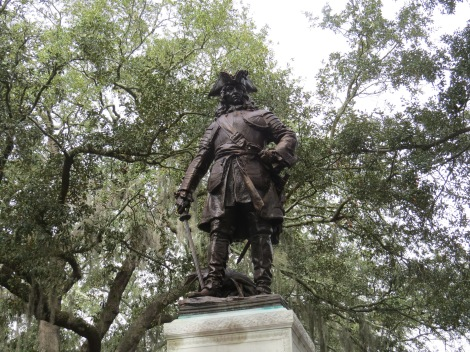 Statue of James Ogelthorpe in Savannah