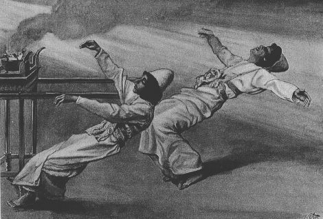 The Two Priests Are Destroyed (watercolor circa 1896–1902 by James Tissot)