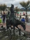 Don Quixote On His Horse in San Sebastian, Spain