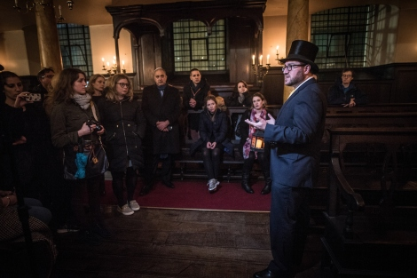 17.02.2016Tour of Bevis Marks Synagogue with Rabbi Shalom Morris.  (C) Blake Ezra Photography 2016.